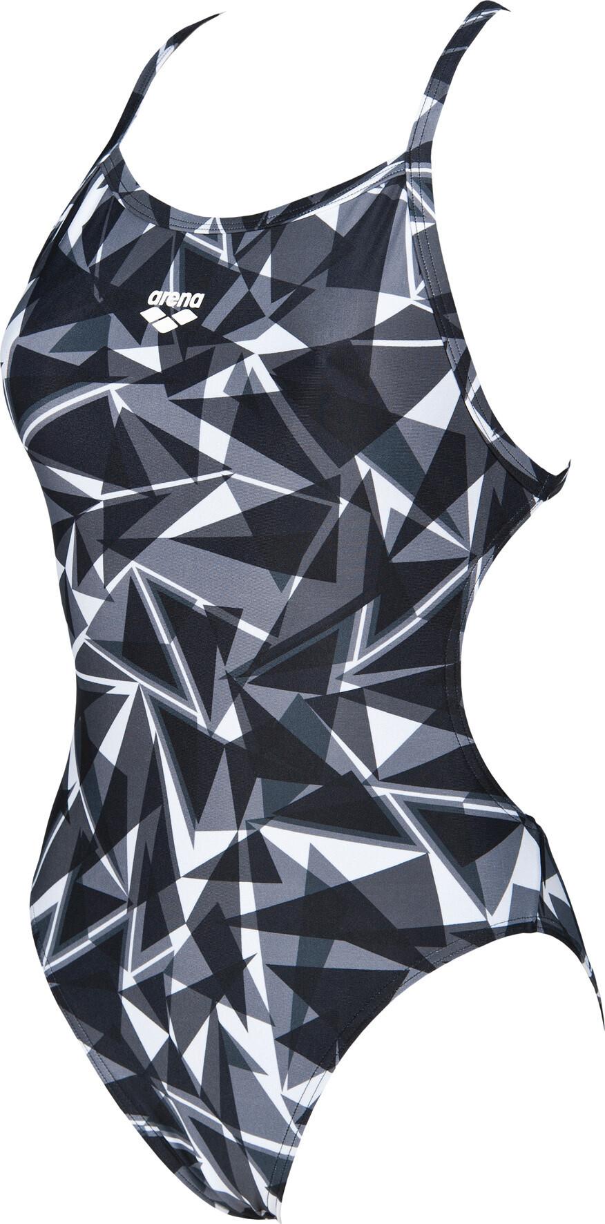 a1e8402c5e De Shattered Maillot Bain Glass Femme Tech Light Noir Arena 8kwPXn0O